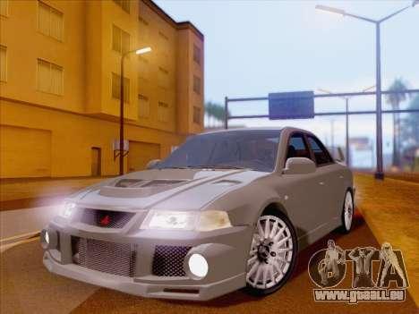 Mitsubishi Lancer Evolution VI LE pour GTA San Andreas vue arrière