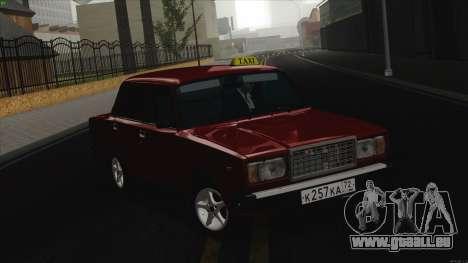 VAZ 2107 Bombilla pour GTA San Andreas laissé vue