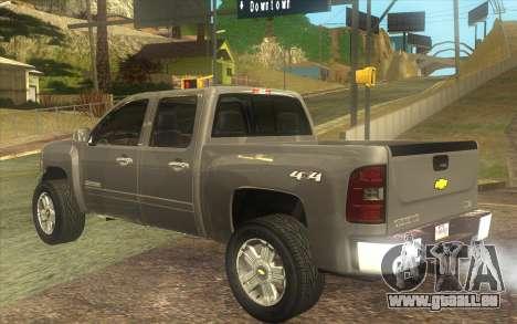 Chevrolet Cheyenne LT 2012 pour GTA San Andreas laissé vue