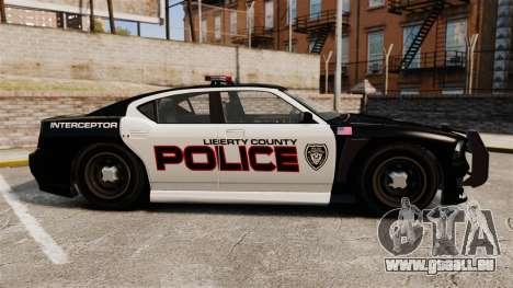 GTA V Bravado Buffalo Supercharged LCPD für GTA 4 linke Ansicht