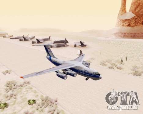 Il-76td-90vd Volga-Dnepr pour GTA San Andreas laissé vue