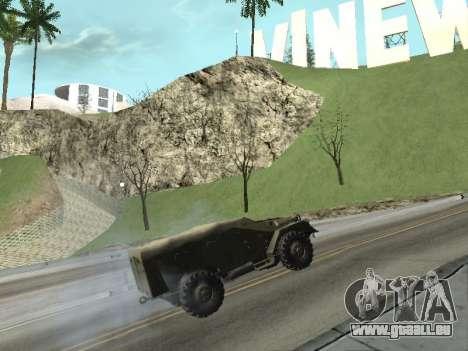 BTR-40 pour GTA San Andreas vue de droite