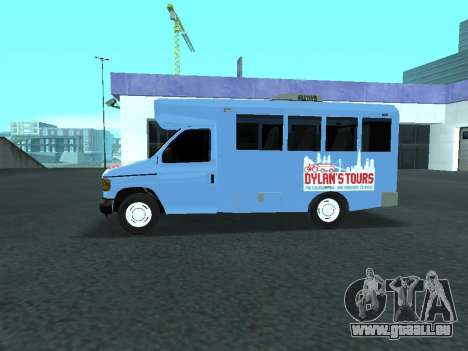 Ford Shuttle Bus pour GTA San Andreas laissé vue