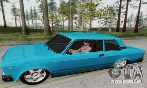 VAZ 2107 coupé pour GTA San Andreas sur la vue arrière gauche