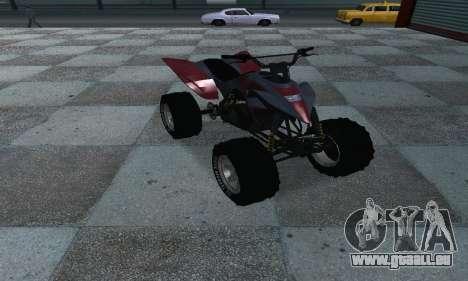 GTA 5 Blazer ATV pour GTA San Andreas vue de droite