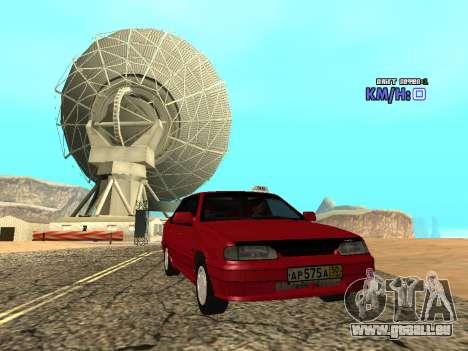 VAZ 2115 Taxi pour GTA San Andreas vue de droite