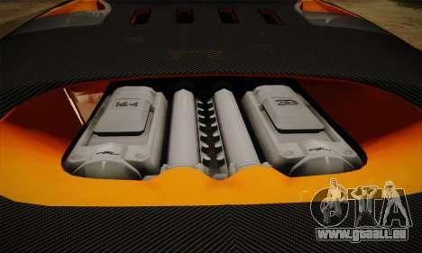 Bugatti Veyron Super Sport World Record Edition pour GTA San Andreas vue de dessus