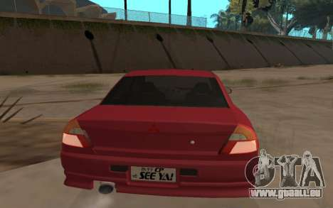 Mitsubishi Lancer Evolution VI für GTA San Andreas linke Ansicht
