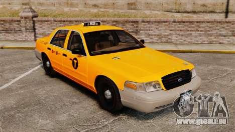 Ford Crown Victoria 1999 NYC Taxi für GTA 4 Seitenansicht