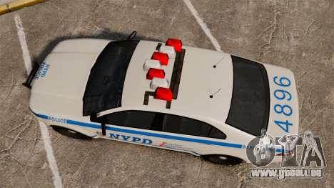 GTA V Police Vapid Interceptor NYPD für GTA 4 rechte Ansicht