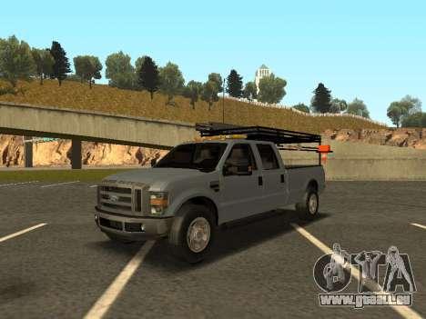Ford F-350 pour GTA San Andreas laissé vue