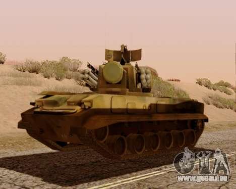 2 S 6 Tunguska pour GTA San Andreas laissé vue
