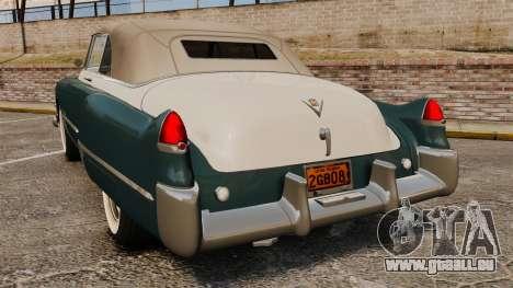 Cadillac Series 62 1949 pour GTA 4 Vue arrière de la gauche