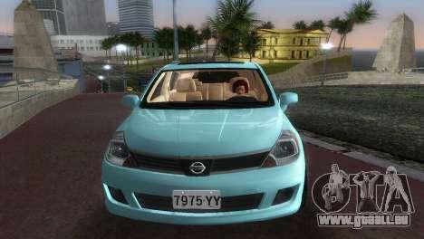 Nissan Tiida für GTA Vice City Rückansicht