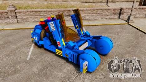 Lego Car Blade Runner Spinner [ELS] pour GTA 4 est une vue de l'intérieur