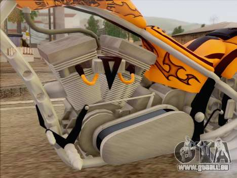Sons Of Anarchy Chopper Motorcycle für GTA San Andreas zurück linke Ansicht