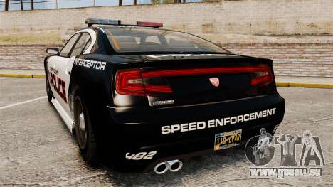GTA V Bravado Buffalo Supercharged LCPD für GTA 4 hinten links Ansicht