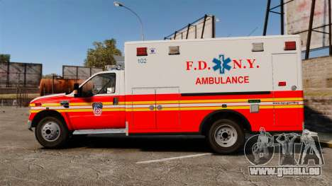 Ford F-350 FDNY Ambulance [ELS] pour GTA 4 est une gauche