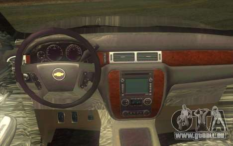 Chevrolet Cheyenne LT 2012 pour GTA San Andreas vue intérieure