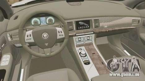 Jaguar XFR 2010 British Police [ELS] für GTA 4 Innenansicht