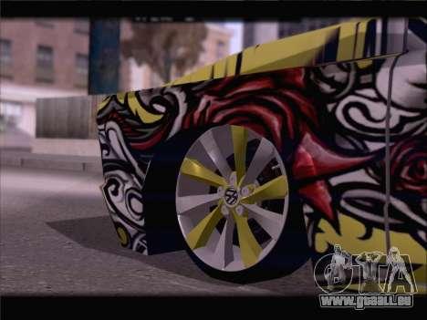 New Slamvan pour GTA San Andreas vue de dessous