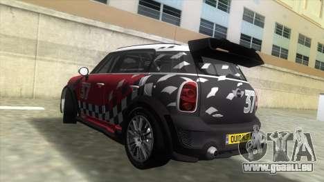 Mini Countryman WRC pour une vue GTA Vice City de la gauche