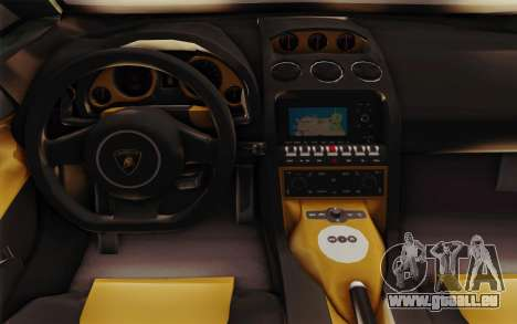 Lamborghini Gallardo SE pour GTA San Andreas vue intérieure