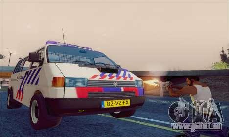 Volkswagen T4 Politie für GTA San Andreas Innenansicht