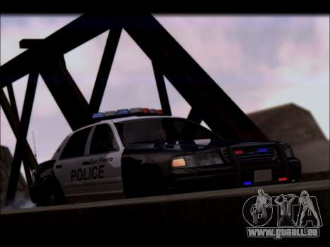 Ford Crown Victoria 2005 Police pour GTA San Andreas vue intérieure