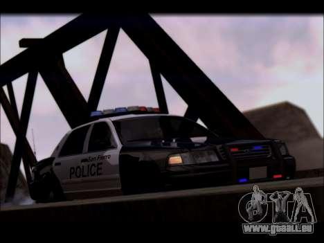 Ford Crown Victoria 2005 Police für GTA San Andreas Innenansicht