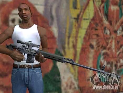 Fusil de sniper de S.T.A.L.K.E.R. pour GTA San Andreas troisième écran