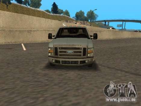 Ford F-350 pour GTA San Andreas sur la vue arrière gauche