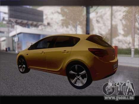Opel Astra J 2011 für GTA San Andreas rechten Ansicht