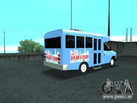 Ford Shuttle Bus pour GTA San Andreas sur la vue arrière gauche