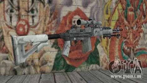 M14 EBR Arctique pour GTA San Andreas deuxième écran