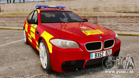 BMW M5 West Midlands Fire Service [ELS] für GTA 4