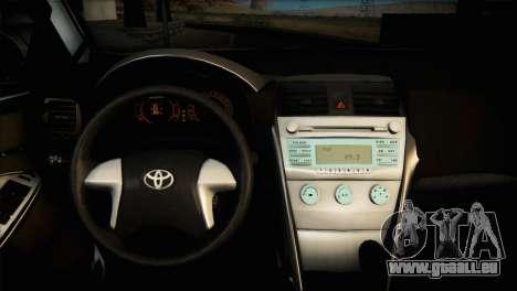 Toyota Corolla 2012 für GTA San Andreas Innenansicht
