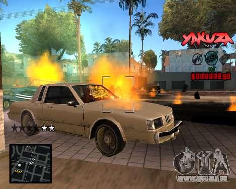 C-HUD Yakuza pour GTA San Andreas troisième écran