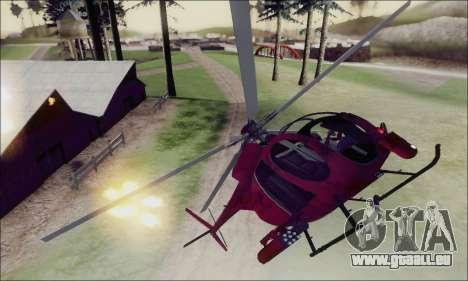 Bussard Angriff Hubschrauber von GTA 5 für GTA San Andreas obere Ansicht