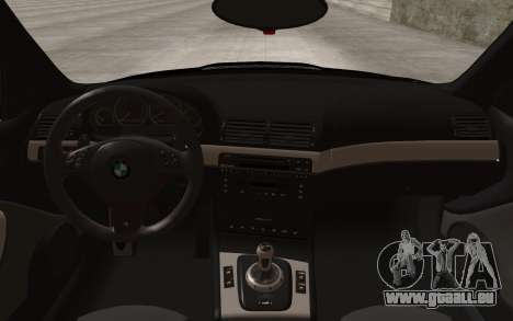 BMW M3 e46 Duocolor Edit für GTA San Andreas Rückansicht