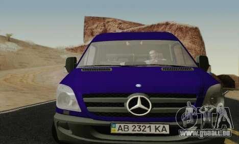 Mersedes-Benz Sprinter für GTA San Andreas linke Ansicht