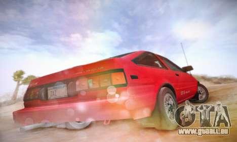 Toyota Corolla GT-S 1985 pour GTA San Andreas vue arrière