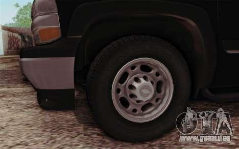 Chevrolet Suburban FBI pour GTA San Andreas vue de droite