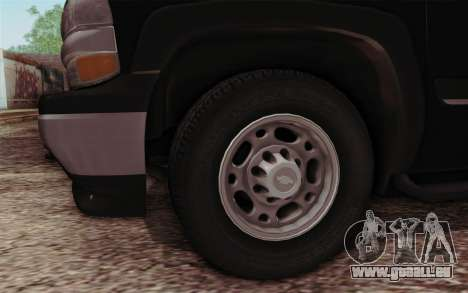 Chevrolet Suburban FBI für GTA San Andreas rechten Ansicht