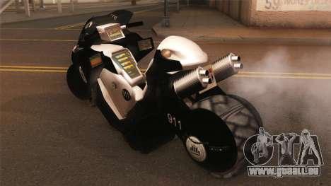 CopBike Alien City pour GTA San Andreas laissé vue