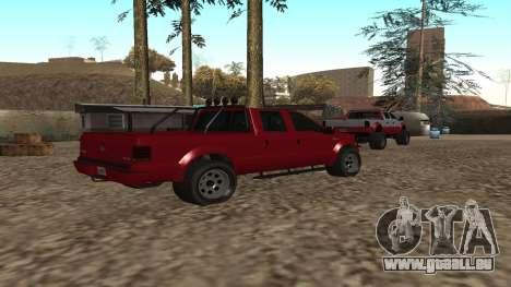 Sadler de GTA 5 pour GTA San Andreas sur la vue arrière gauche