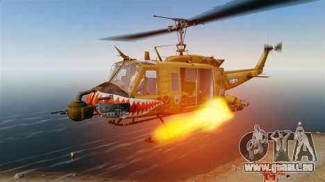 Bell UH-1 Iroquois v2.0 Gunship [EPM] pour GTA 4 vue de dessus