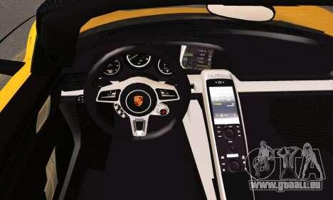 Porsche 918 Spyder 2014 pour GTA San Andreas