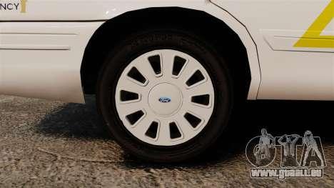 Ford Crown Victoria 2011 LCSHP [ELS] für GTA 4 Rückansicht