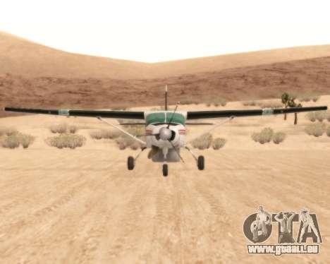 Cessna 208B Grand Caravan für GTA San Andreas Rückansicht